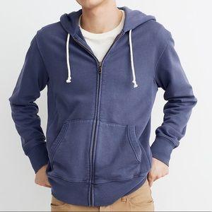 MADEWELL Garment-Dyed Zip-Front Hoodie Sweatshirt